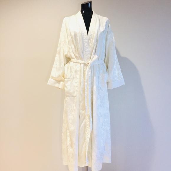 Victorias Secret Gold Label Womens Sleepshirt Pajama Top Robe Paisley Medium
